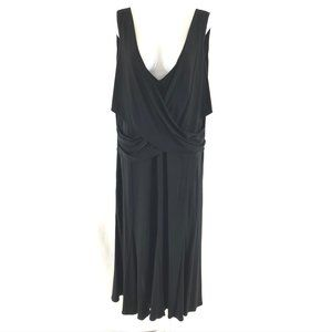 Ralph Lauren Dress A Line Draped V Neck Sleeveless